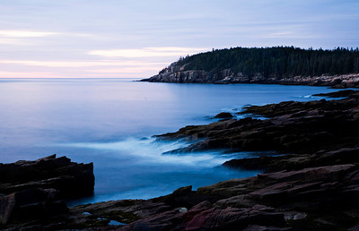 Thunder Hole at dawn.
