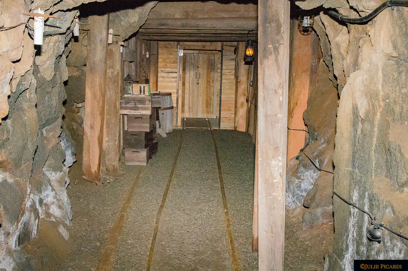 The tunnels were lit by candles back in the day.