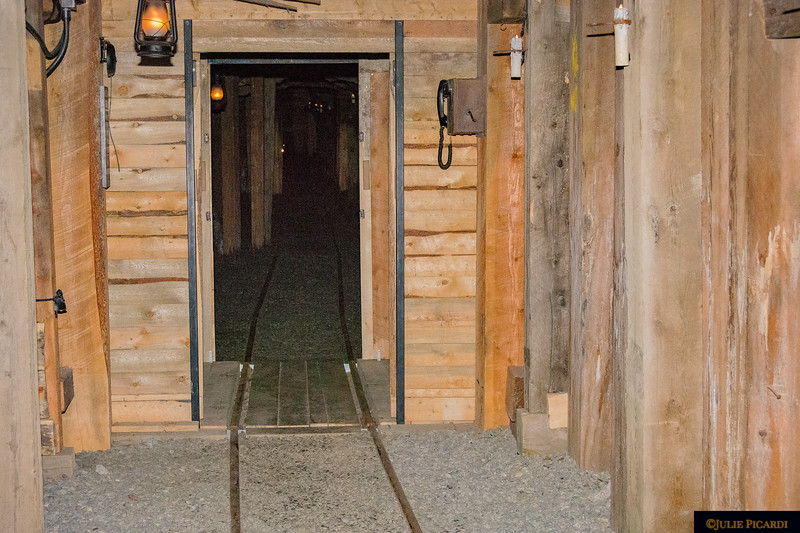 A telephone now exists in the reconstructed tunnel, but in the mining days, each man had his own brass key ring.