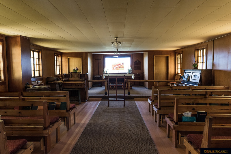 The doors are never locked. Itinerant ministers hold services here twice a month.
