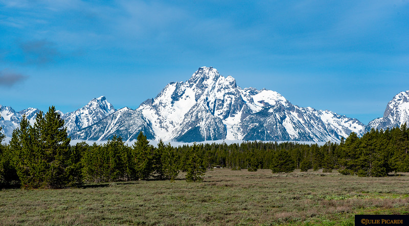 The majestic Grand Teton Mountains in spring