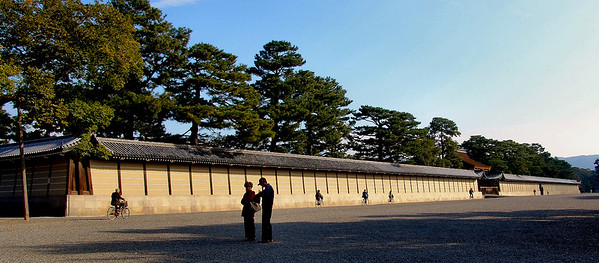 The walls around the palace compound.