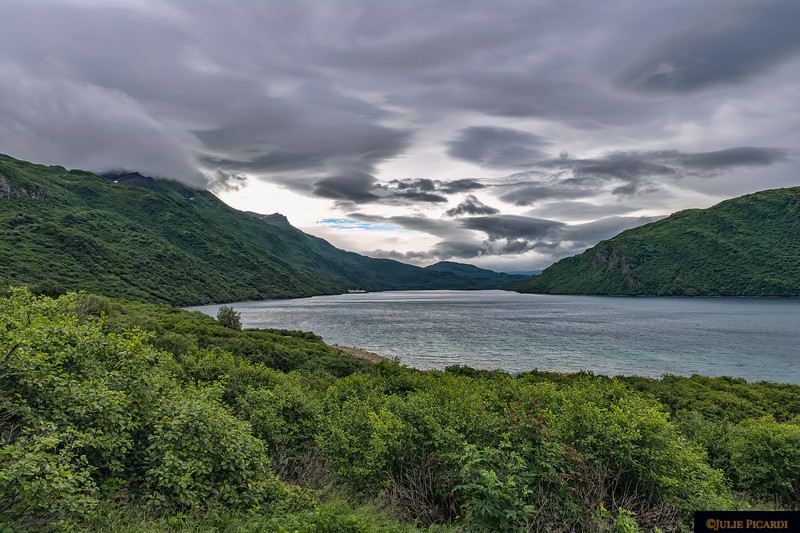 Storm clouds over Uganik Bay.