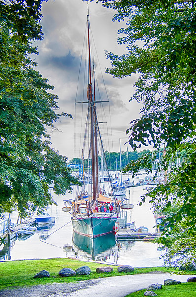 Schooner in Camden Harbor