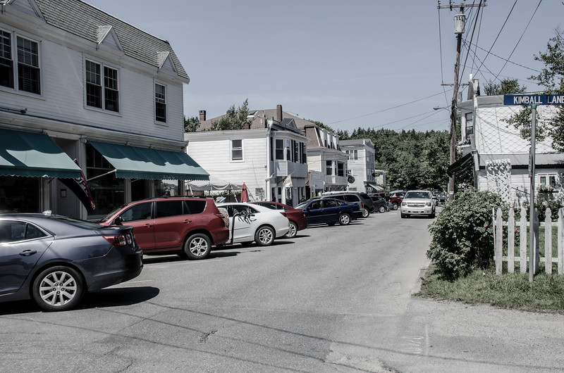 Main Street of Northeast Harbor on Mt. Desert Island