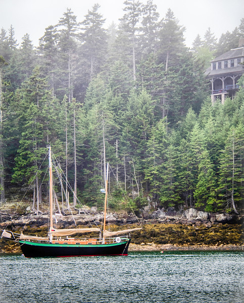 Ketch in the Morning Mist