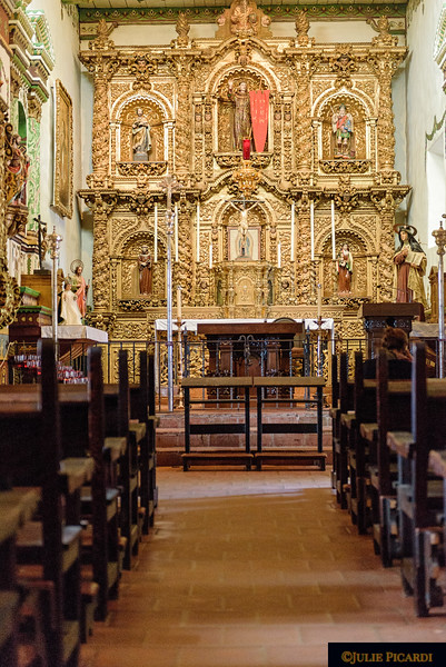 Father Serra's gold cathedral built in 1782 and still in use today.