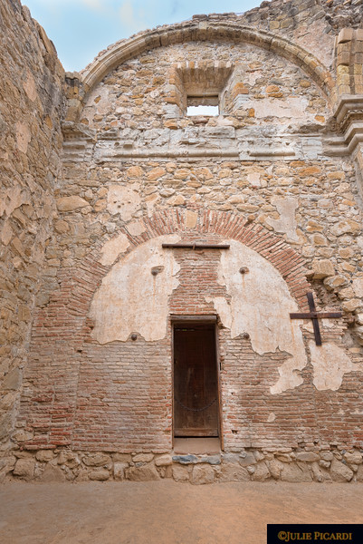 Priest's entrance into the old basilica.