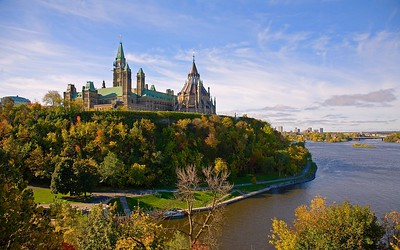Parliament Buildings and the Ottawa River