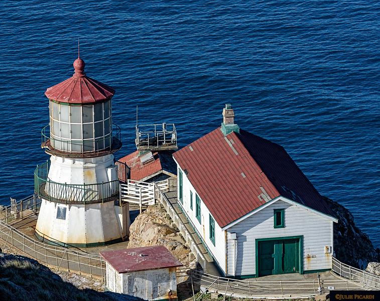 Lighthouse at Point Reyes National Seashore.