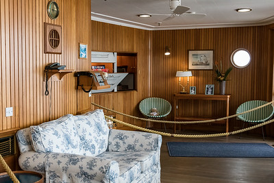 The Sun Lounge was one of the Queen's favorite rooms on board the ship where she often enjoyed breakfast and  afternoon tea.