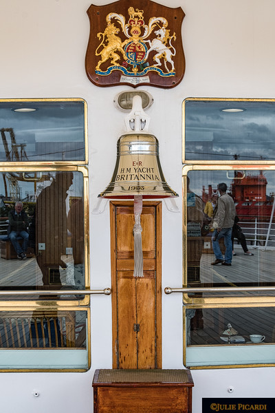 The ship's bell with the date of 1953, the year the Britannia was christened by Queen Elizabeth on April 16, 1953.