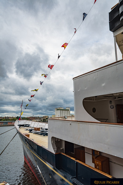 View of the ship's bow.