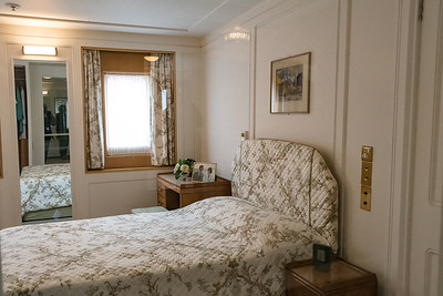The Honeymoon Suite on a floating palace. How romantic is this? Although in today's world, one might hope for at least a queen size bed instead of the double seen here.