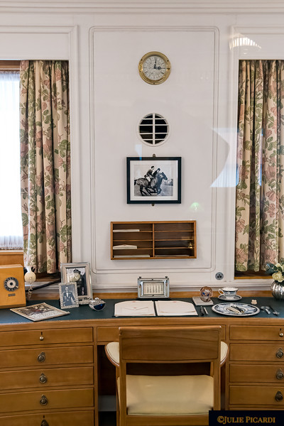 Her majesty's desk. Orders of state must be reviewed daily regardless of whether at the palace or on the yacht.