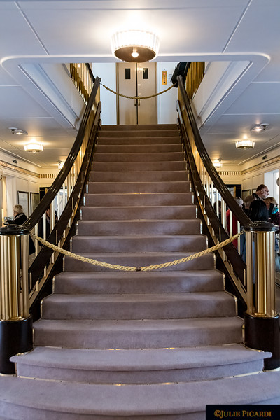 The Grand Staircase which leads  to the staterooms of the Royal Family.