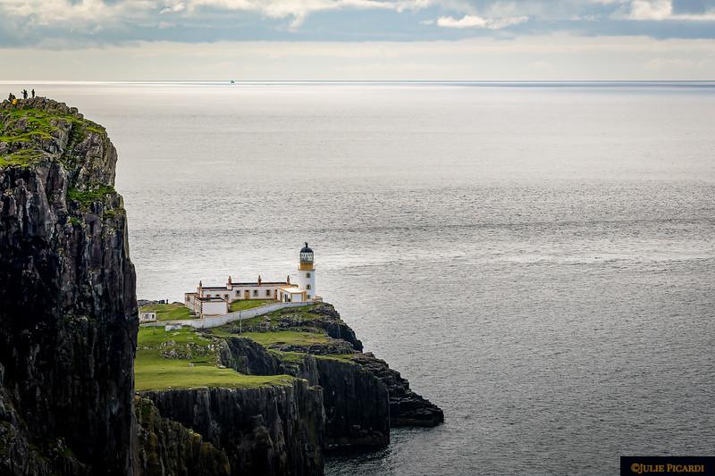 Closeup of the Neist Lighthouse