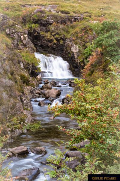 Waterfall near entrance of Glenbrittle Campsite.