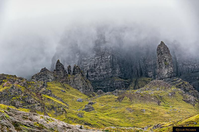 The moodiness of Old Man of Storr  which overlooks the Sound of Raasay