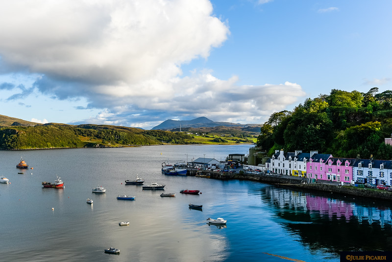 View of the Portree waterfront taken from the bridge.