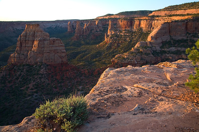 Colorado National Monument at sunrise.