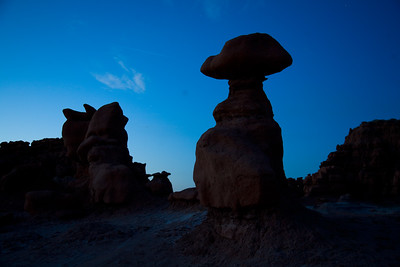 Hoodoos at night.