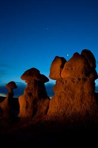 Moonrise over the hoodoos.