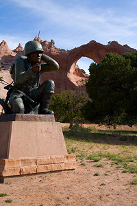 Window Rock and the Navajo Code Talker Monument