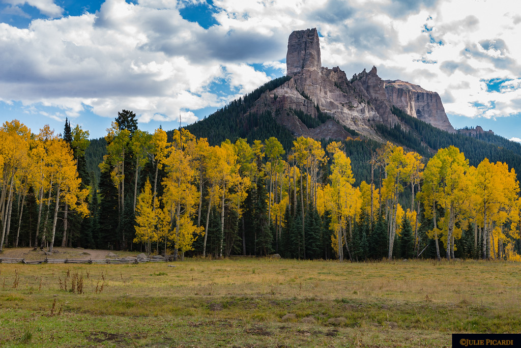 Chimney Rock at Kate's Meadow, where a famous scene was shot during the filming of True Grit.