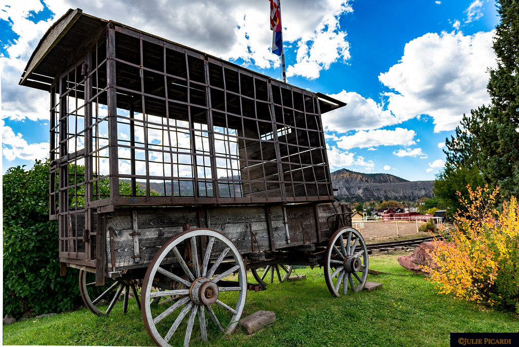 Authentic paddy wagon used in the movie True Grit.