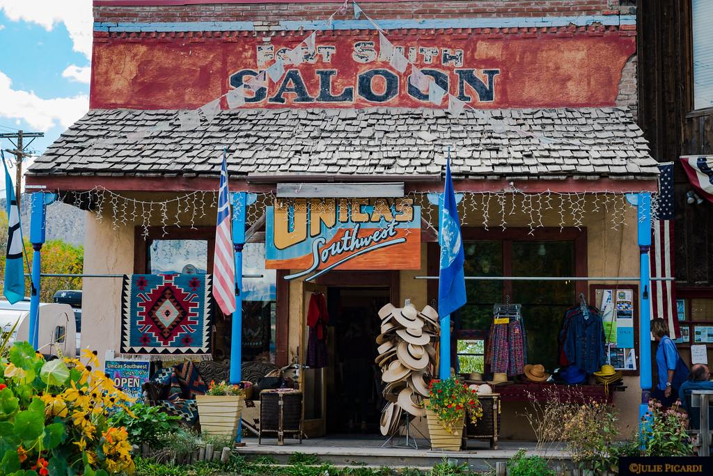 Colorful store on Main Street in  Ridgeway, CO.