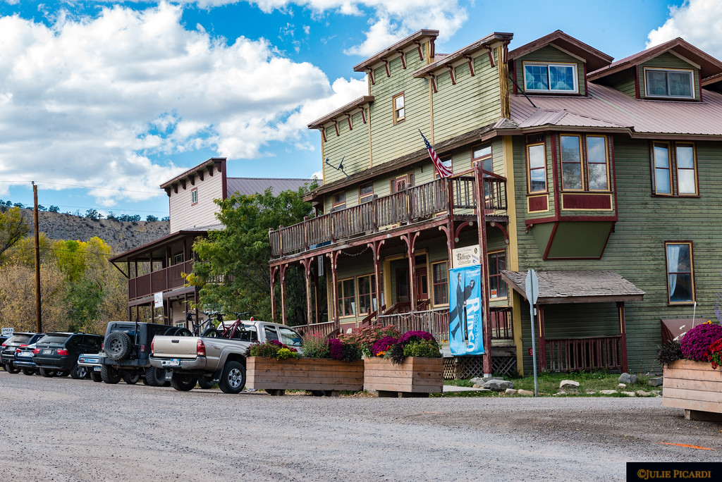 Quaint dirt streets  and old wild west facades add to the interest of the old western town.
