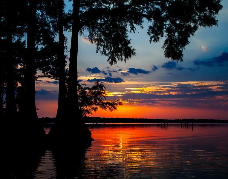 Sunset on Caddo