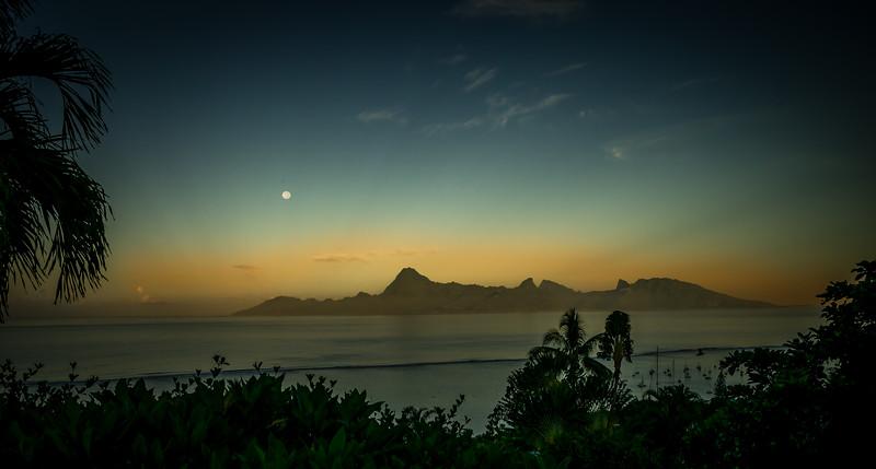 Moonrise, Moorea, French Polynesia