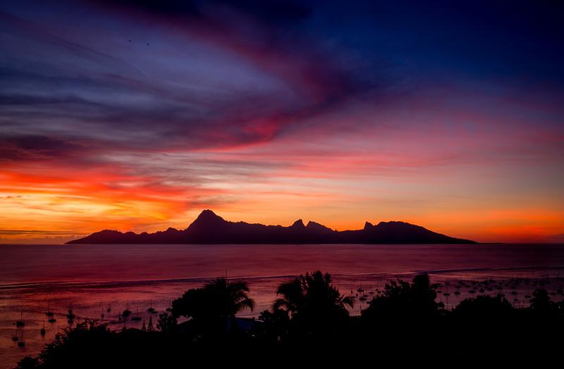 Golden Hour in Tahiti