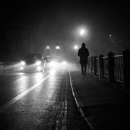 Walking down the street...