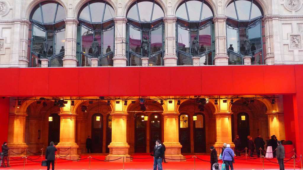 Vienna Opera ball preparations