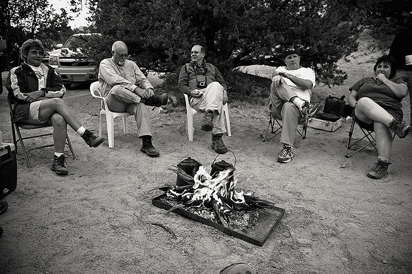 <i>Relaxing after dinner. Kathy, Jim, Skip, Ian, and Sheila.</i>