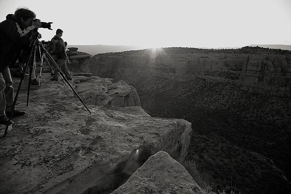 Shooting at sunrise at Colorado National Monument.