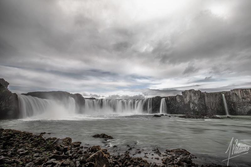 Goðafoss from Below