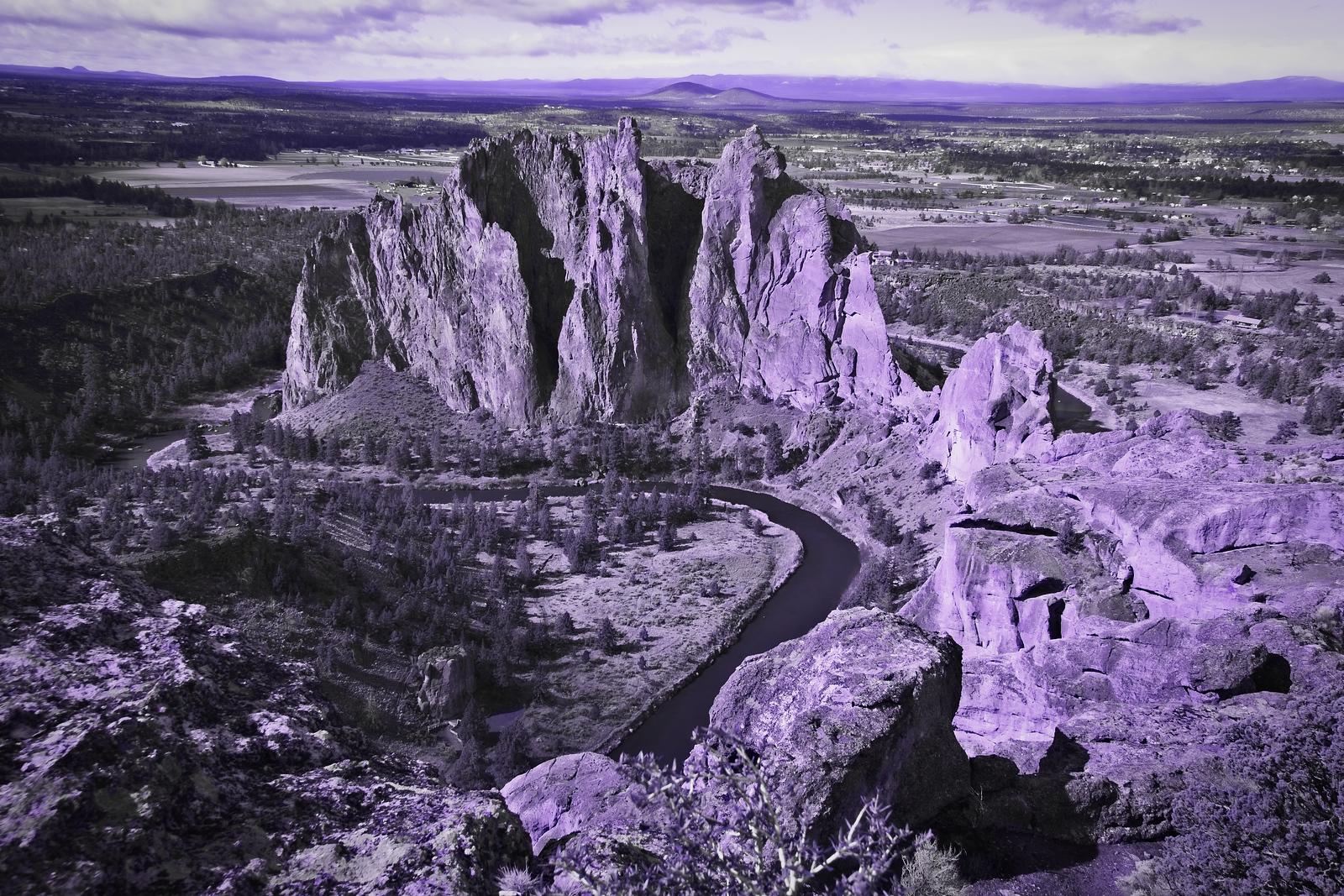 Smith Rock in UV