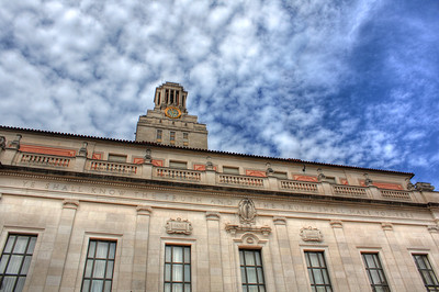 "Inscription on the Main Building of the University of Texas at Austin.  ""Ye shall know the truth and the truth shall make you free."""