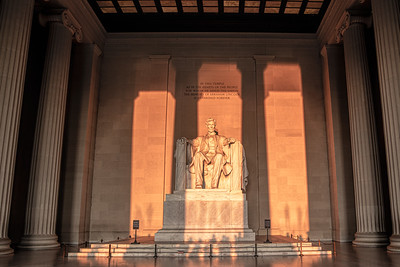 Lincoln Memorial Statue Bathed in Sunlight