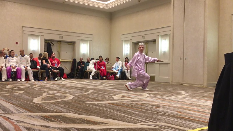 My first competition in Tai Chi Sword 32 form at US Challenge on October 7, 2017