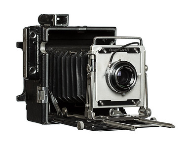 Vintage Camera Crown Graphic Right Side View