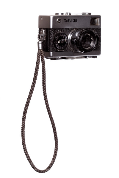 Vintage Camera Rollei-35 Right Side View w/Strap