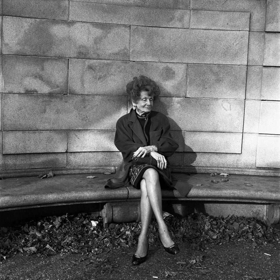 Elderly Woman, Central Park East, New York City, circa 1990.