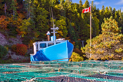 Dry Docked Lobster Boat