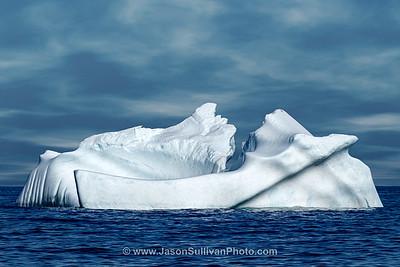 Blue Ice at Sea