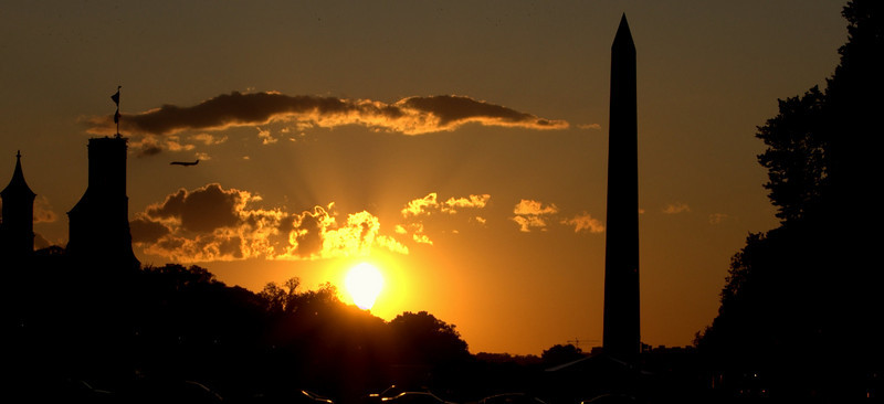 Sunset on the mall